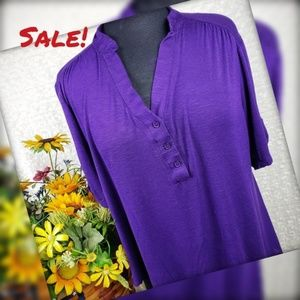 Casual Purple Ladies Blouse, Size XL